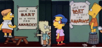 The Trump campaign (2016): VOTE FOR  PART  VOTE FOR  BART  FOR  ANARCHY!  FOR  MARCHY The Trump campaign (2016)