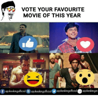 Memes, 🤖, and  Favourite Movie: VOTE YOUR FAVOURITE  MOVIE OF THIS YEAR  f Giokeskingolfcial Stokeskingofficial Giokeskingofficial ejokeskingin