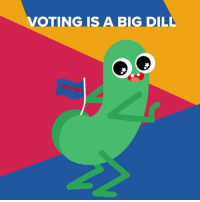Today, Relatable, and Big: VOTINGISA BIG DILL  VOTED me all day today