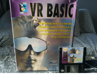 3d glasses: VR BASIC  EVRTUAL REALLA SCRIPTING  E THAT LETS YOU BUILD  IN 3D STEREOVISIO  INCLUDES  3D GLASSES