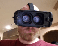 Phone, Goggles, and The: VR Goggles without the phone attached.