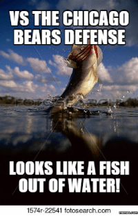 Fishing: VS THE  CHICAGO  BEARS DEFENSE  LOOKS LIKE A FISH  OUT OF WATER!  1574r-22541 fotosearch com  mennesdCONM