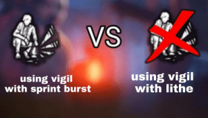 Vigil broken with lithe and no one has noticed yet. Rip.: VS  using vigil  with lithe  using vigil  with sprint burst Vigil broken with lithe and no one has noticed yet. Rip.