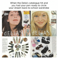 Dank, School, and Dresses: vv n en the Dellas catalogue nit and  you had your pen ready to circle  your dream back-to-school wardrobe  hot cd  dReSsES. GIVE ME ALL THE CHOKERS.