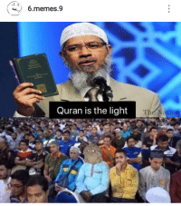 Memes, Quran, and Light: w 6.memes.9  67, 68, 6  Quran is the light