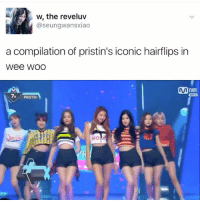 Hair commercial . . . . . Credit to owner✌: w, the reveluv  @seungwansxiao  a compilation of pristin's iconic hairflips in  Wee WOO  net  7H PRISTIN  MO Hair commercial . . . . . Credit to owner✌