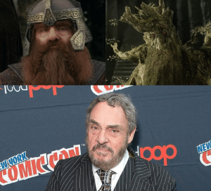 """Movies, The Lord of the Rings, and Lord of the Rings: W YORK  COMICN  TM  NEW In """"The Lord of the Rings"""" movies, Gimli and Treebeard were played by the same actor, John Rhys-Davies."""