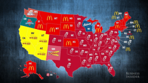 debthaver:  mapsontheweb: Most popular fast food restaurants by US state. can't believe that if only new mexico voted, sonic would be president  : WA  OR  NDMN  MA  ID  NY  Ri M  CT  SD  MI  m W  WI  NV  IA  PANJ  OH  NE  DE  ouT UT  CO  IL  IN-N-OUT  KS  VA  MD  NC  SC  AZ  DC  NM  TN  MS AL GA  TX  AK  LA  FL  、 M  HI  BUSINESS  INSIDER debthaver:  mapsontheweb: Most popular fast food restaurants by US state. can't believe that if only new mexico voted, sonic would be president