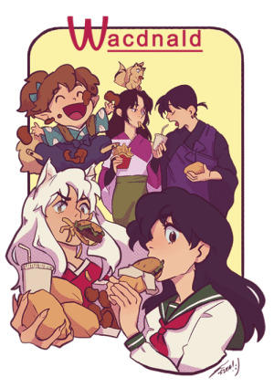 rainbowthinker:  Do you ever sit around minding your own business and suddenly remembered Wacdnald from Inuyasha [Patreon]: Wacdnald rainbowthinker:  Do you ever sit around minding your own business and suddenly remembered Wacdnald from Inuyasha [Patreon]
