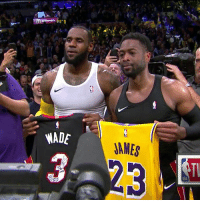 Legendary jersey swap. Flash and The King.  (Via @NBATV)   https://t.co/smQ70YONqZ: WADE  AMES  NBA Legendary jersey swap. Flash and The King.  (Via @NBATV)   https://t.co/smQ70YONqZ