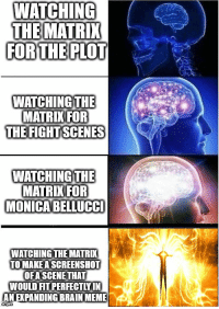 """<p>What if I told you&hellip; via /r/memes <a href=""""http://ift.tt/2gp1va4"""">http://ift.tt/2gp1va4</a></p>: WAICHING  THE MATRIX  FORTHE PLOT  WATCHING THE  MATRIKIFOR  THE FIGHTSCENES  WATCHING THE  MATRIK FOR  MONICABELLUCC  WATCHING THE MATRI  TO MAKE A SCREENSHOT  OFA SCENE THAT  WOULD FIT PERFECTLY IN  AN EXPANDING BRAIN MEME <p>What if I told you&hellip; via /r/memes <a href=""""http://ift.tt/2gp1va4"""">http://ift.tt/2gp1va4</a></p>"""