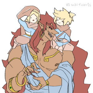 Tumblr, Blog, and Power: waifuarts asianfemaleeatingfooditems:  Ganon is rehydrated through the power of friendship and many many buckets of holy spring water