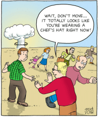 <p>Do it for the internet.</p>: WAIT, DON'T MOVE...  IT TOTALLY LOOKS LIKE  YOU'RE WEARING A  CHEF'S HAT RIGHT NOW!  )1  go <p>Do it for the internet.</p>