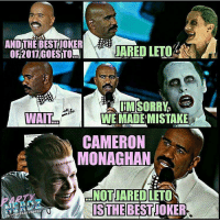 "Memes, The Voice, and Gotham: WAIT  JARED LETO  WE MADEIMISTAKE  CAMERON  MONAGHAN  NOT JARED LETO  IS THE @blerd.vision - After watching the latest episode of Gotham, I gotta say... my buddies over @thepartynerdz nailed this one. -- Jerome was the only reason I kept watching the show in Season 2 and ""Ghosts"" reinforces why: he's a show-stealer. From the look, to the voice, down to his mannerisms: Cameron Monaghan NAILED his interpretation of the Joker. He even incorporated Leto's growls... but pulled it off without seeming like a creeper. 😒😂 What'd you guys think of Faceless Jerome on Gotham? -- 🚨 And be sure to listen to our latest podcast [LINK IN BIO] on our reviews of the Logan & PowerRangers Trailers and Season 2 of Voltron!"