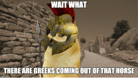 Wtf, Horse, and What: WAIT WHAT  THERE ARE GREEKS COMING OUT OF THAT HORSE