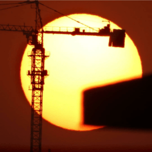 Waited for a whole year to finally be able to take this shot when the sun is behind the crane.: Waited for a whole year to finally be able to take this shot when the sun is behind the crane.