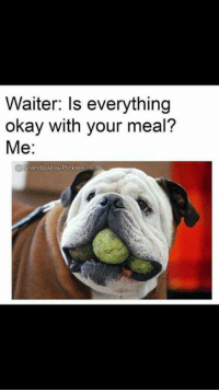Memes, 🤖, and Pickle: Waiter: Is everything  okay with your meal?  Me  GrandpaLou Pickle Me this valentine's day....