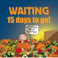 For more awesome holiday and fun pictures go to... 🎃🎃🎃🎃🎃🎃www.snowflakescottage.com: WAITING  15 days to go!  WELCOME  GREAT  PUMPKIN  2.) For more awesome holiday and fun pictures go to... 🎃🎃🎃🎃🎃🎃www.snowflakescottage.com