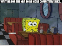 Basketball, Memes, and Nba: WAITING FOR THE NBA TO BE MORE COMPETITIVE LIKE...  @NBAMEMES Missing the good old days when basketball was actually competitive. https://t.co/MRdwlQL7Kh