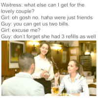 Blue Balls Blue And Girl Waitress What Else Can I Get For
