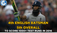 Memes, 🤖, and Score: Waitrose  4th ENGLISH BATSMAN  5th OVERALL  TO SCORE 10OO+ TEST RUNS IN 2016 1000+ Test runs for Moeen Ali in 2016.