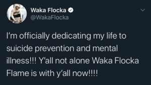 Waka Flocka Flame is there for y'all: Waka Flocka Flame is there for y'all