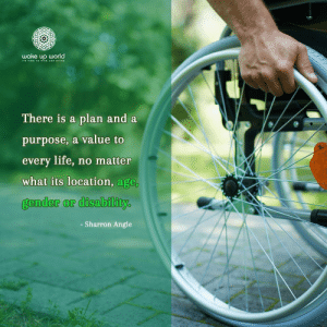 http://wakeup-world.com: wake up world  TIME TOo sE AND SHINE  There is a plan and a  purpose, a value to  every life, no matter  what its location, age,  gender or disability  - Sharron Angle http://wakeup-world.com