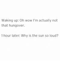Why are we like this @circleofidiots 😩😅: Waking up: Oh wow I'm actually not  that hungover.  1 hour later: Why is the sun so loud? Why are we like this @circleofidiots 😩😅