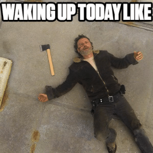 Funny, Memes, and The Walking Dead: WAKINGUPTODAY LIKE The Walking Dead Memes - Funny TWD memes and Pictures