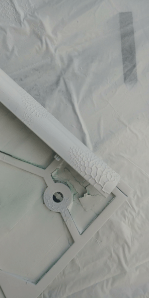 Lesson learned today. Dont use a clear coat/primer mix over top a white paint/primer mix. Have to sand it down, reapply white and then coat with varathane semi gloss. Case mod mistake number 1.: WAL Lesson learned today. Dont use a clear coat/primer mix over top a white paint/primer mix. Have to sand it down, reapply white and then coat with varathane semi gloss. Case mod mistake number 1.