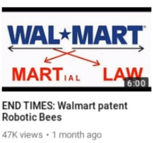 Beese: WAL MART  MARTIAL LAWN  6:00  END TIMES: Walmart patent  Robotic Bees  47K views 1 month ago