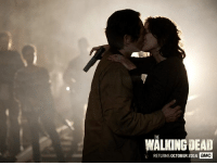 Dank, Goals, and Goal: WALKING DEAD  RETURNS OCTOBER 2016  aMC International Kissing Day goals.    Watch Maggie and Glenn from the start during the Season 2 #TWDMarathon this Sunday.