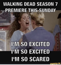 Crossbow---}: WALKING DEAD SEASON 7  PREMIERE THIS SUNDAY  IM SO EXCITED  IM SO EXCITED  I'M SO SCARED  ifunny.ce Crossbow---}