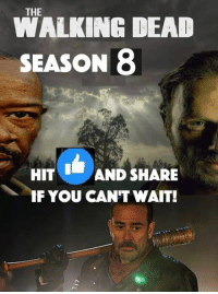"""Click, Family, and Memes: WALKING DEAD  SEASON 8  HIT AND SHARE  IF YOU CAN'T WAIT! #TheWalkingDead Season 7 Finale last night was AWESOME and ended on a perfect note! I can't wait for The Walking Dead Season 8 next October and """"All Out War!"""" I put up a new post on my #Film site with a video from AMC about wrapping up #TWD Season 7. It's a great watch. Click the link below to check it out! My The Walking Dead Family page is almost at 244,000 fans and helping this Elliot Van Orman Productions page of mine move towards 6k. :) (y)  Click here: http://www.egvoproductions.com/news-blog/wrapping-up-the-walking-dead-season-7"""