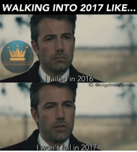 Whst movie are you most excited for this year? For me, it's Justice League🙌🏾 2016 2017 happynewyear newyear newyearnewme batman brucewayne benaffleck batfleck batmanvsuperman justiceleague: WALKING INTO 2017 LIKE...  failed in 2016  IG: @kingofmetahumans  I won't fail in 2017 Whst movie are you most excited for this year? For me, it's Justice League🙌🏾 2016 2017 happynewyear newyear newyearnewme batman brucewayne benaffleck batfleck batmanvsuperman justiceleague