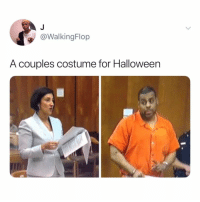Halloween, Relatable, and Quote: @WalkingFlop  A couples costume for Halloween if you can quote this perfectly, i'll give you a virtual high five