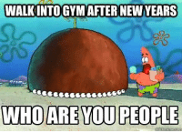 *screams*: WALKINTOGYM AFTER NEW YEARS  WHO ARE YOU PEOPLE  Quick meme com *screams*