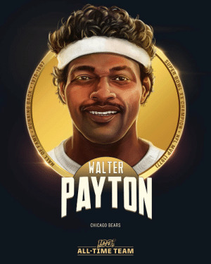 Walter Payton is one of the 12 RBs selected to the #NFL100 All-Time Team!  🏈16,726 rushing yards (2nd all-time) 🏈9x Pro Bowl, 3x All-Pro, 1977 MVP 🏈100 TDs (4th all-time) https://t.co/eVuLcTULR7: WALTER  PAYTON  CHICAGO BEARS  ALL-TIΜΕ ΤEAΜ  MVP (1977)  NFL  SUPER BOWL XX CHAMPION  HALL OF FAME RUNNING BACK 1975-1987 Walter Payton is one of the 12 RBs selected to the #NFL100 All-Time Team!  🏈16,726 rushing yards (2nd all-time) 🏈9x Pro Bowl, 3x All-Pro, 1977 MVP 🏈100 TDs (4th all-time) https://t.co/eVuLcTULR7