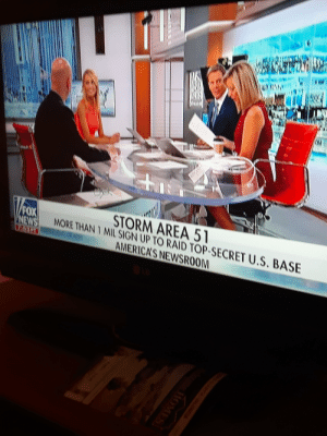 News, Fox News, and Fox: WAME  STORM AREA 51  MORE THAN 1 MIL SIGN UP TO RAID TOP-SECRET U.S. BASE  AMERICA'S NEWSROOM  FOX  NEWS  HOMES Gen Z hasn't done anything significant, until now