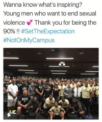 @brendatracy24 💙💙💙: Wanna know what's inspiring?  Young men who want to end sexual  violence Thank you for being the  90% !! @brendatracy24 💙💙💙