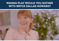 """<h2><b>Wanna play """"WOULD YOU RATHER"""" with Bryce Dallas Howard?</b></h2><h2>Bryce is ready to answer your best """"Would You Rather?"""" scenarios!</h2><h2>Send us your best/funniest/weirdest questions by replying below or by submitting to our <b><a href=""""http://fallontonight.tumblr.com/ask"""" target=""""_blank"""">Tumblr Ask Box</a></b>!</h2><p>[<i>gif <a href=""""http://liriadovale.tumblr.com/post/155215971261/netflix-me-at-the-beginning-of-2016-me-at-the"""" target=""""_blank"""">via</a></i>]</p><h2><b>What's your best """"Would You Rather"""" question?</b></h2>: WANNA PLAY WOULD YOU RATHER  WITH BRYCE DALLAS HOWARD? <h2><b>Wanna play """"WOULD YOU RATHER"""" with Bryce Dallas Howard?</b></h2><h2>Bryce is ready to answer your best """"Would You Rather?"""" scenarios!</h2><h2>Send us your best/funniest/weirdest questions by replying below or by submitting to our <b><a href=""""http://fallontonight.tumblr.com/ask"""" target=""""_blank"""">Tumblr Ask Box</a></b>!</h2><p>[<i>gif <a href=""""http://liriadovale.tumblr.com/post/155215971261/netflix-me-at-the-beginning-of-2016-me-at-the"""" target=""""_blank"""">via</a></i>]</p><h2><b>What's your best """"Would You Rather"""" question?</b></h2>"""