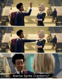 Wow, Miles Morales is one cool dude: Wanna Sprite Cranberry? Wow, Miles Morales is one cool dude