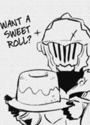 Slayer, Tumblr, and Blog: WANT A  SWEET  ROLL? zillion-ronald-manus:  husbandly goblin slayer offering you a sweet roll