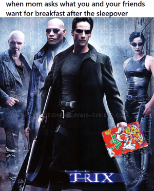 now with red pill and blue pill cereal bites: want for breakfast after the sleepover now with red pill and blue pill cereal bites