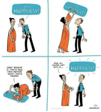 "<p>I hope this brings a smile to your face like it did to mine! Have a fantastic day everyone!</p>  Artist: <a href=""http://www.zenpencils.com"">www.zenpencils.com</a>: WANT  HAPPINESS  NOW ALL  YOU'RE LEFT  WITH IS..  HAPPINESS  FIRST REMOVE  I, THAT'S EGO.  THEN REMOVE  WANT, THAT'S  DESIRE.  vnpencls.com <p>I hope this brings a smile to your face like it did to mine! Have a fantastic day everyone!</p>  Artist: <a href=""http://www.zenpencils.com"">www.zenpencils.com</a>"