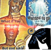 """<p>[<a href=""""https://www.reddit.com/r/surrealmemes/comments/8jg0v8/the_void_envelops_all_eternity/"""">Src</a>]</p>: Wanted to g0  What if You  But god said <p>[<a href=""""https://www.reddit.com/r/surrealmemes/comments/8jg0v8/the_void_envelops_all_eternity/"""">Src</a>]</p>"""