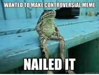 nailed it: WANTED TO MAKE CONTROVERSIAL MEME  NAILED IT  quickmeme.com