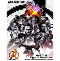 How should it all end ? 🤔 Comment Below how you think Avengers : InfinityWar should end in order to lead into Avengers4. 🤷🏽‍♂️ I'd love to read all your Theories ! AvengersInfinityWar HYPE ! 👊 MarvelCinematicUniverse 💥 MCU Marvel ( Poster By : @MarvelSpoilerOficial ) 😍👏🏽: WAR IS INFINITE  4/5/18  IN 3D,REALD 3DAND IMAx ac  IN 3D,REALD 3DAND IMAx 3D How should it all end ? 🤔 Comment Below how you think Avengers : InfinityWar should end in order to lead into Avengers4. 🤷🏽‍♂️ I'd love to read all your Theories ! AvengersInfinityWar HYPE ! 👊 MarvelCinematicUniverse 💥 MCU Marvel ( Poster By : @MarvelSpoilerOficial ) 😍👏🏽