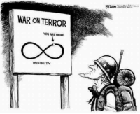 """The wars may be perpetual ... but the resources to fight them are not.  The debts cannot rise into perpetuity.  The """"entangling alliances"""" never last.  The debasement of the currency (i.e. printing new money) cannot defeat the laws of supply and demand.  Empires have a 100% failure rate.  No exceptions.: WAR ON TERROR  YOU ARE HERE  INFINITY The wars may be perpetual ... but the resources to fight them are not.  The debts cannot rise into perpetuity.  The """"entangling alliances"""" never last.  The debasement of the currency (i.e. printing new money) cannot defeat the laws of supply and demand.  Empires have a 100% failure rate.  No exceptions."""