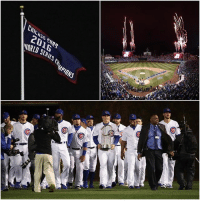 Memes, Cubs, and World: WARLO SERIES C  PIONS The World Series banner has been raised. A magical night for Cubs fans.